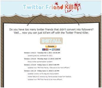 Twitter Friend Killer
