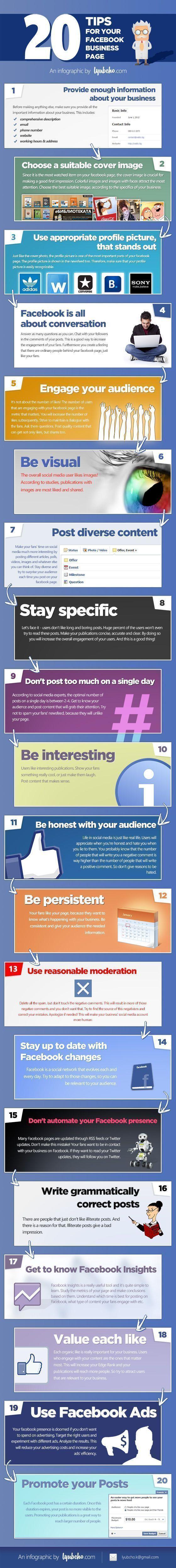 20 tips para perfil de facebook