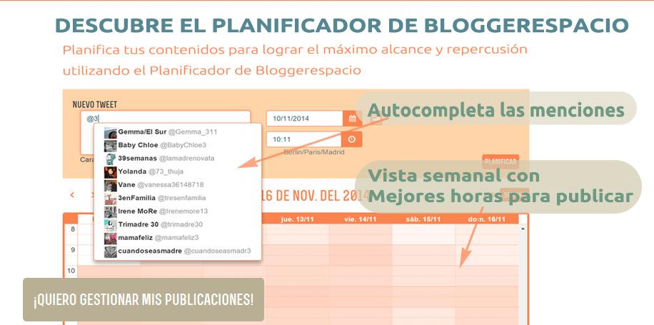 Planificador BloggerEspacio