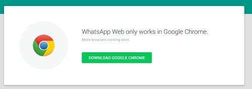 Whatsapp web Chrome