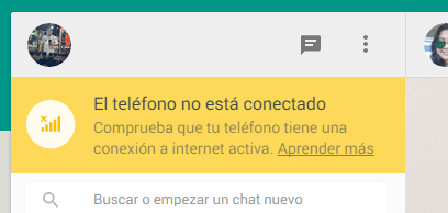 Whatsapp web deconecado