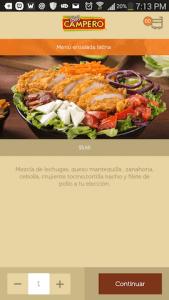 aplicacion pollo campero platos