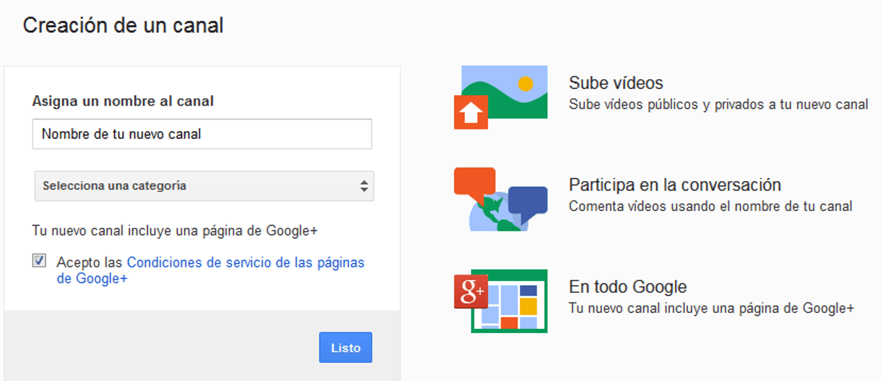 Cómo crear un canal de videos en YouTube 2