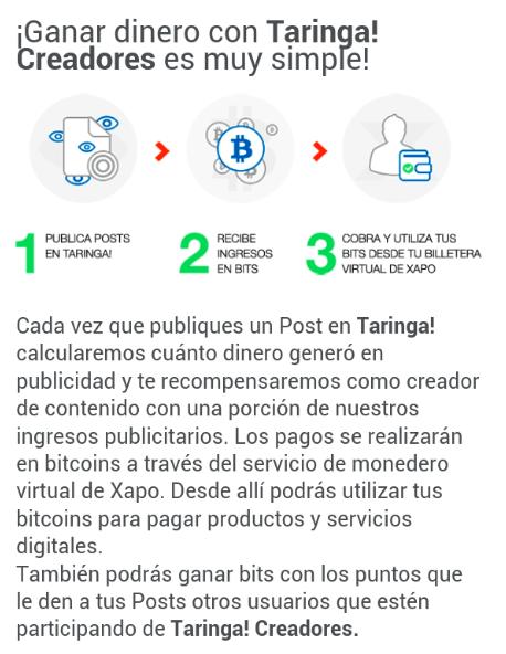 Mail Taringa BitCoins