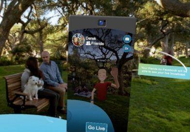 Facebook Trae Live Broadcasting a Spaces su App de Realidad Virtual