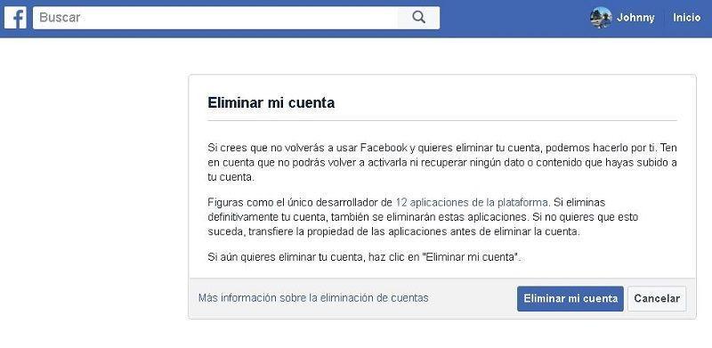 Cómo eliminar permanentemente mi cuenta de Facebook